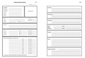 Individual Detail Sheet