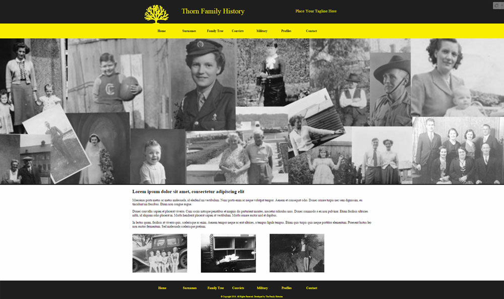 Family History Website Template